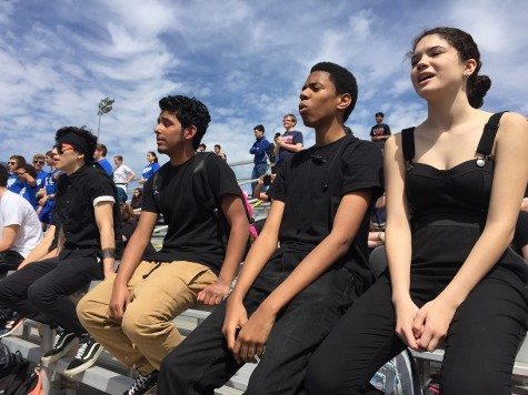 Juniors dressed up in all black for their spirit day class color.