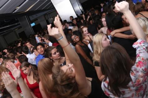Students hit the dance floor at the 2014 Homecoming Dance.