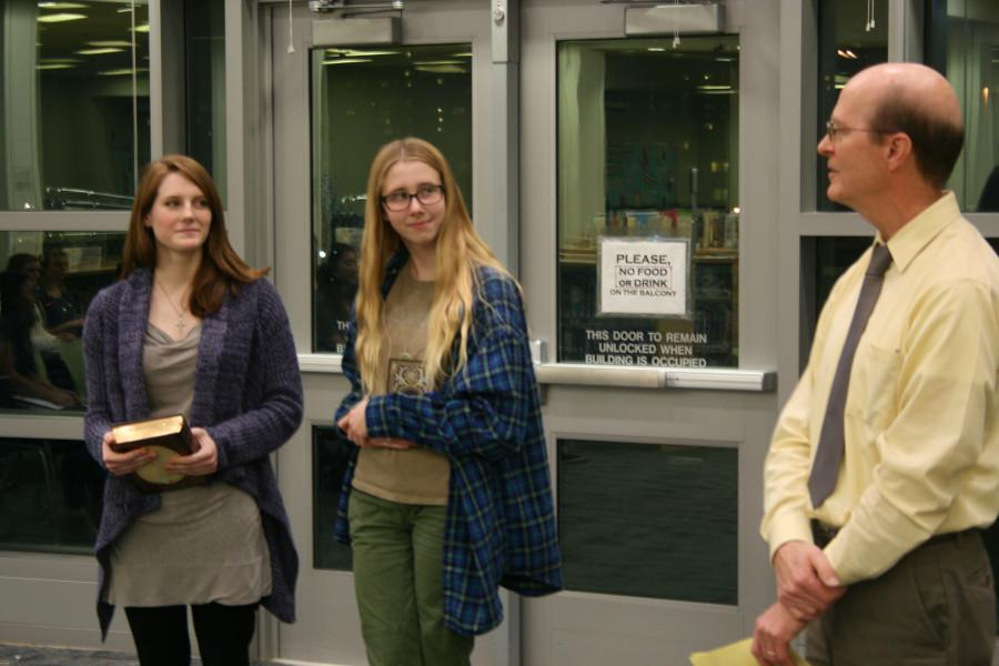 The school-wide Poetry Out Loud competition took place on Thursday, Dec. 10 in the library. Congrats to Grace Burgess, Grace Leckey and Hannah Torma for their wins.