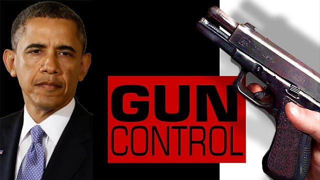 President Barack Obama consulting with community members about enforced gun laws.