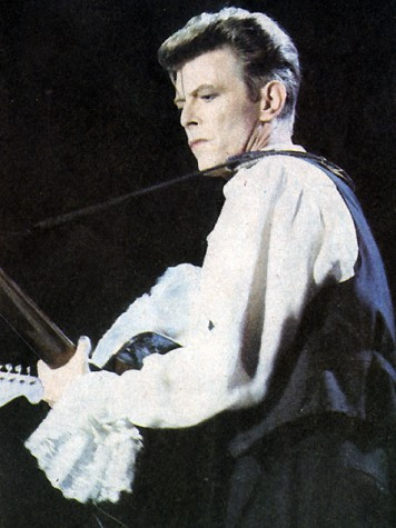 Bowie performs in Chile during the Sound+Vision Tour, making his return to solo music after performing with Tin Machine.