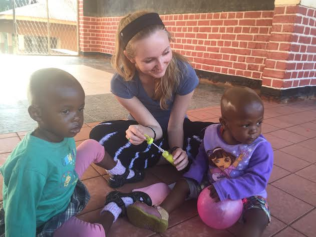 Senior Kathryn Carlson in Tanzania, a place that Doctors Without Borders supports.