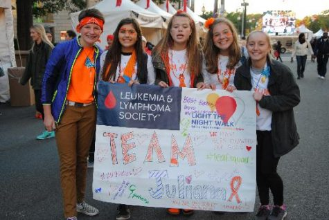 Members of Team Juliana get ready for the big walk