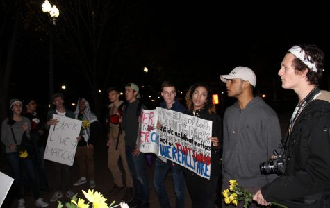 Demonstrators in DC march to protest the election of president-elect Donald Trump.