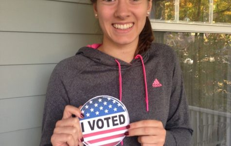 Senior Lauren Montgomery  is excited to vote about local issues during this year's election.