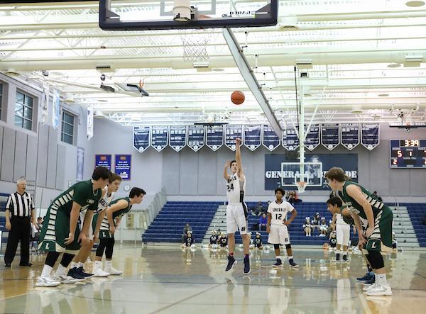 Boys JV basketball vs Langely at Washington-Lee.