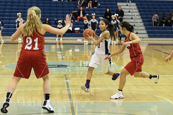 Girls JV basketball goes up against McLean.