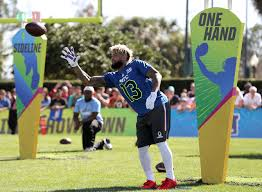 Odell Beckham Jr. of the New York Giants competes in the NFL