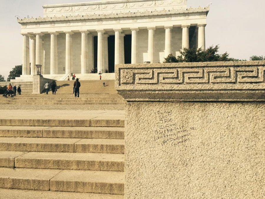 D.C. monuments damaged with graffiti over holiday weekend