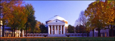 UVA rotunda on campus quadrangle
