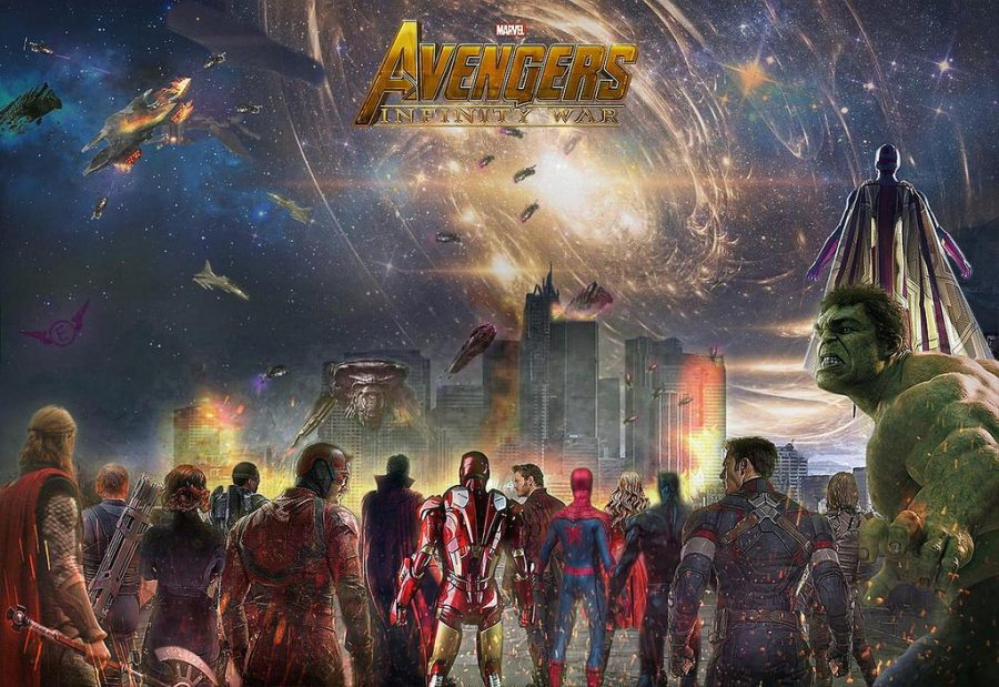 The+Marvel+Cinematic+Universe+Characters+represented+on+a+movie+poster