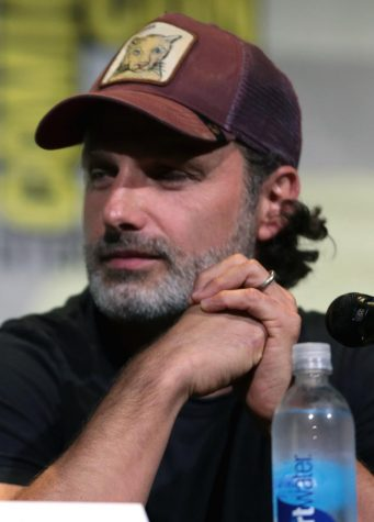 Actor Andrew Lincoln sits on a panel for