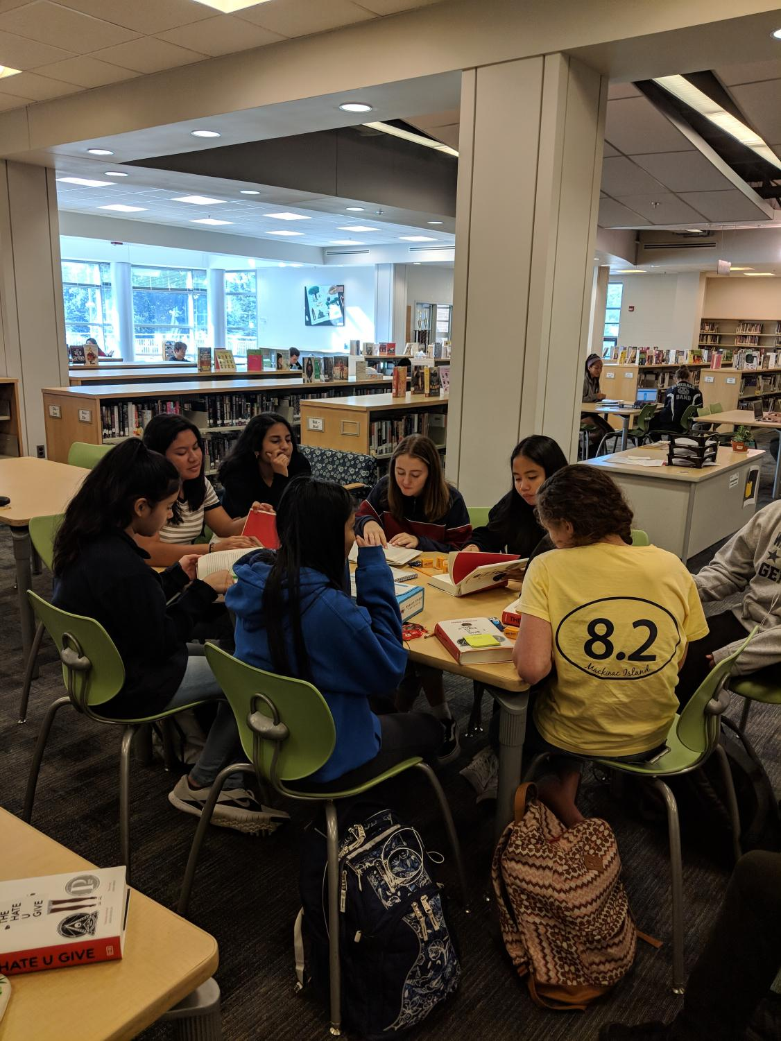 """The school's new book club discusses the book version of """"The Hate U Give"""". The club has met twice already, and plans to meet again on November 8."""