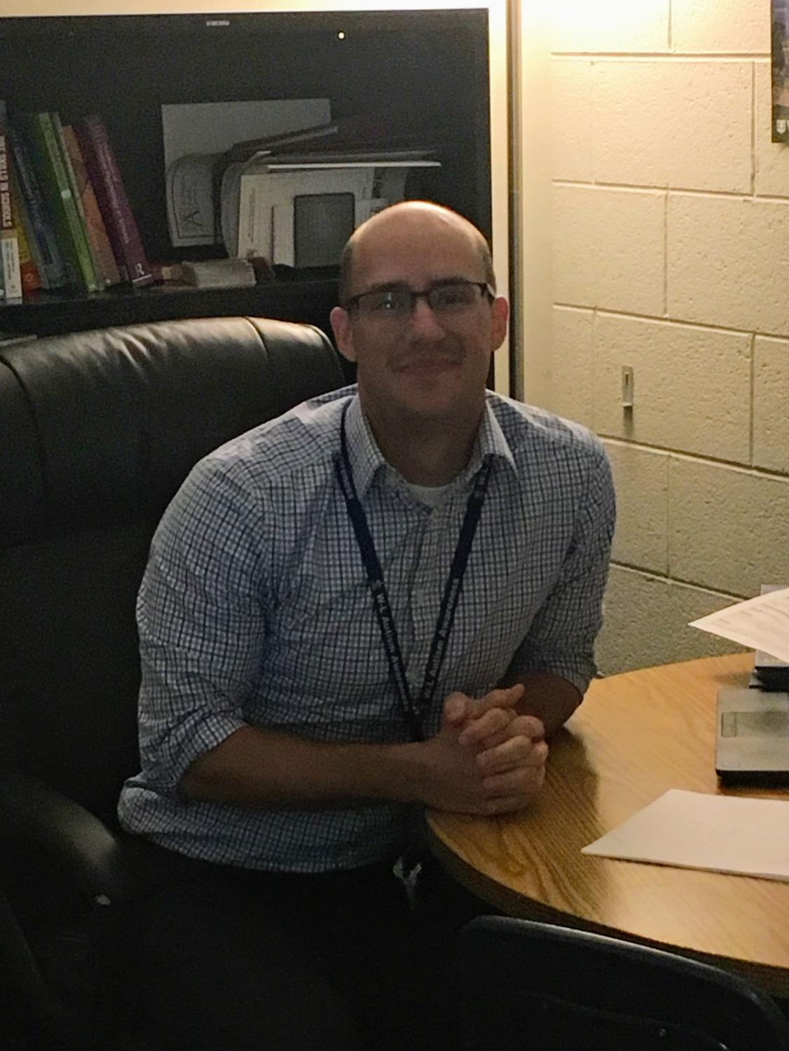 Dr. James Siddall, school psychologist and Assistant Coach of the freshman football team.