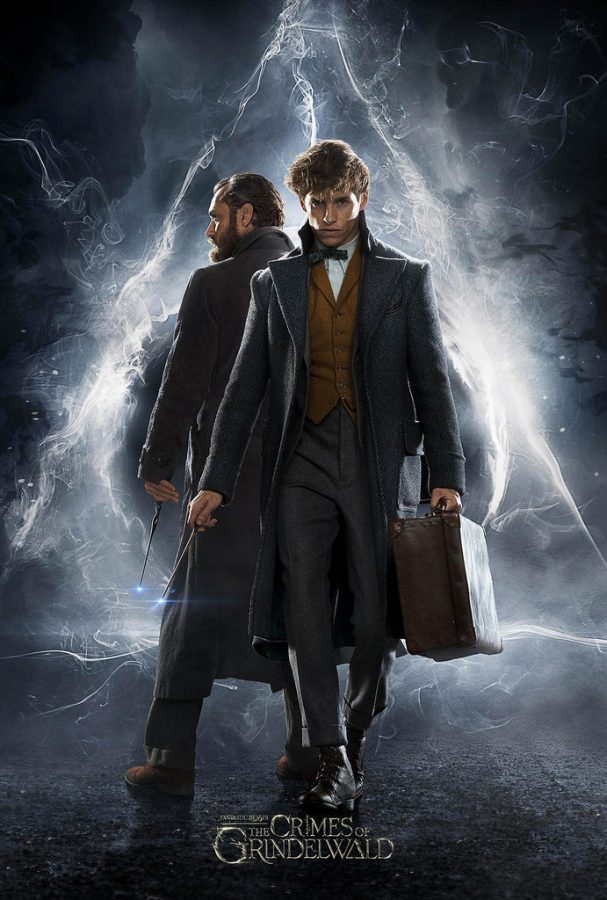 Jude+Law+and+Eddie+Redmayne+play+Albus+Dumbledore+and+Newt+Scamander+in+this+sequel+to+the+first+Fantastic+Beasts+movie.+
