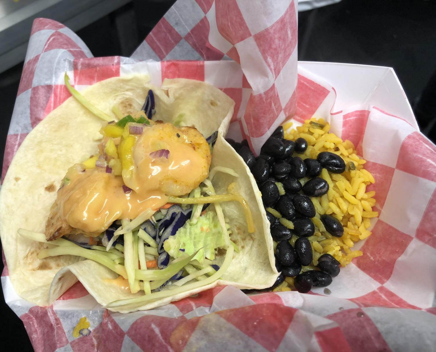 A meal offered by the Career Center's student-run food truck