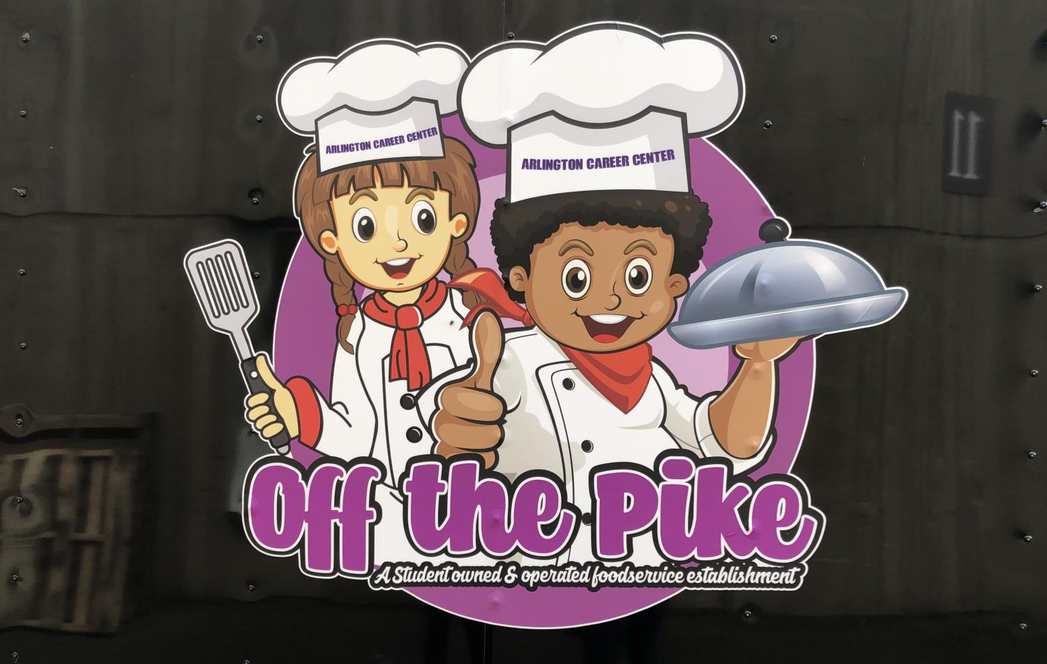 The logo on the cooking class at the Career Centers' personal food truck