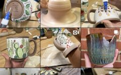 Snapshot of Lucy Nguyen's instagram posts of her pottery, which she dedicates a lot of time to outside of school.