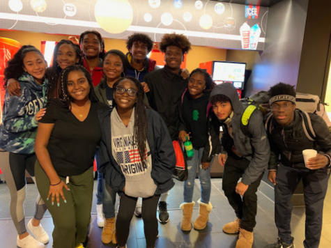 The Black Student Union at their movie night to see the movie Harriet. The club commonly holds out-of-school activities to connect what they talk about in the school to fun bonding activities.