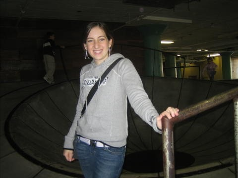 "Dana Walkenhorst, at the time a senior, tours the ""city museum"" in St. Louis with a friend from New Orleans who was visiting. Walkenhorst and her younger brother lived with their grandpa in St. Louis for the first semester of Walkenhorst's senior year."