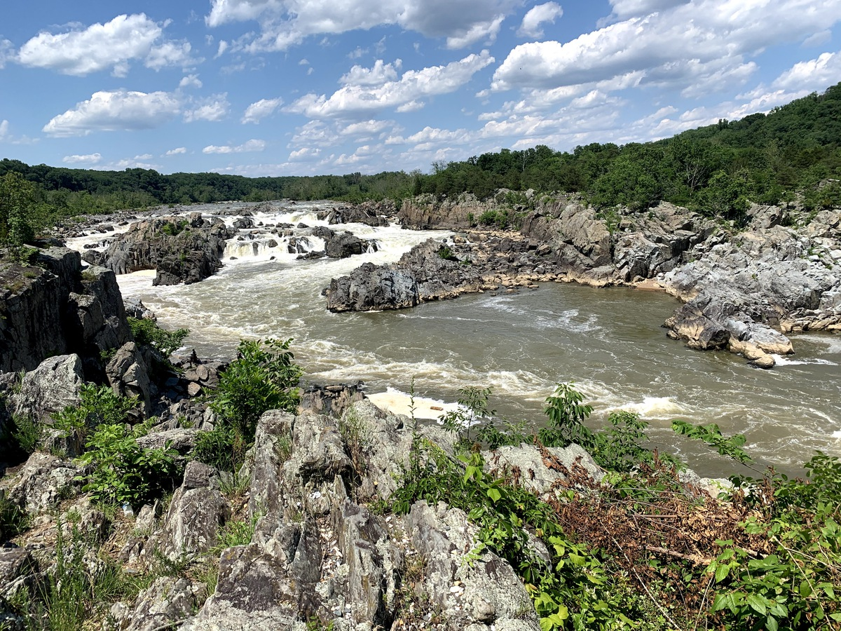 Great Falls Park includes views of the Potomac River