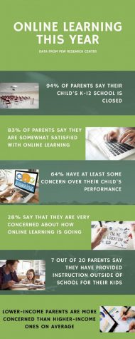 The school adapts to online learning