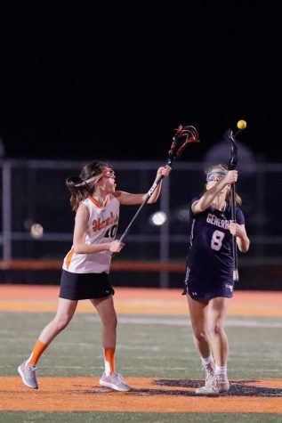 Senior Anna Erskine plays for the schools varsity lacrosse team. Erskine recently committed to Rhodes College to play Division III lacrosse.