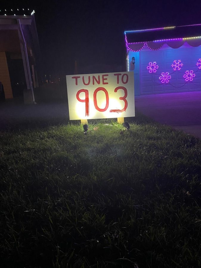 In order to get the full effect of the house with synchronized lights listed above, the radio station is listed. This channel had a mix — from pop to Christmas music to the muppet song.