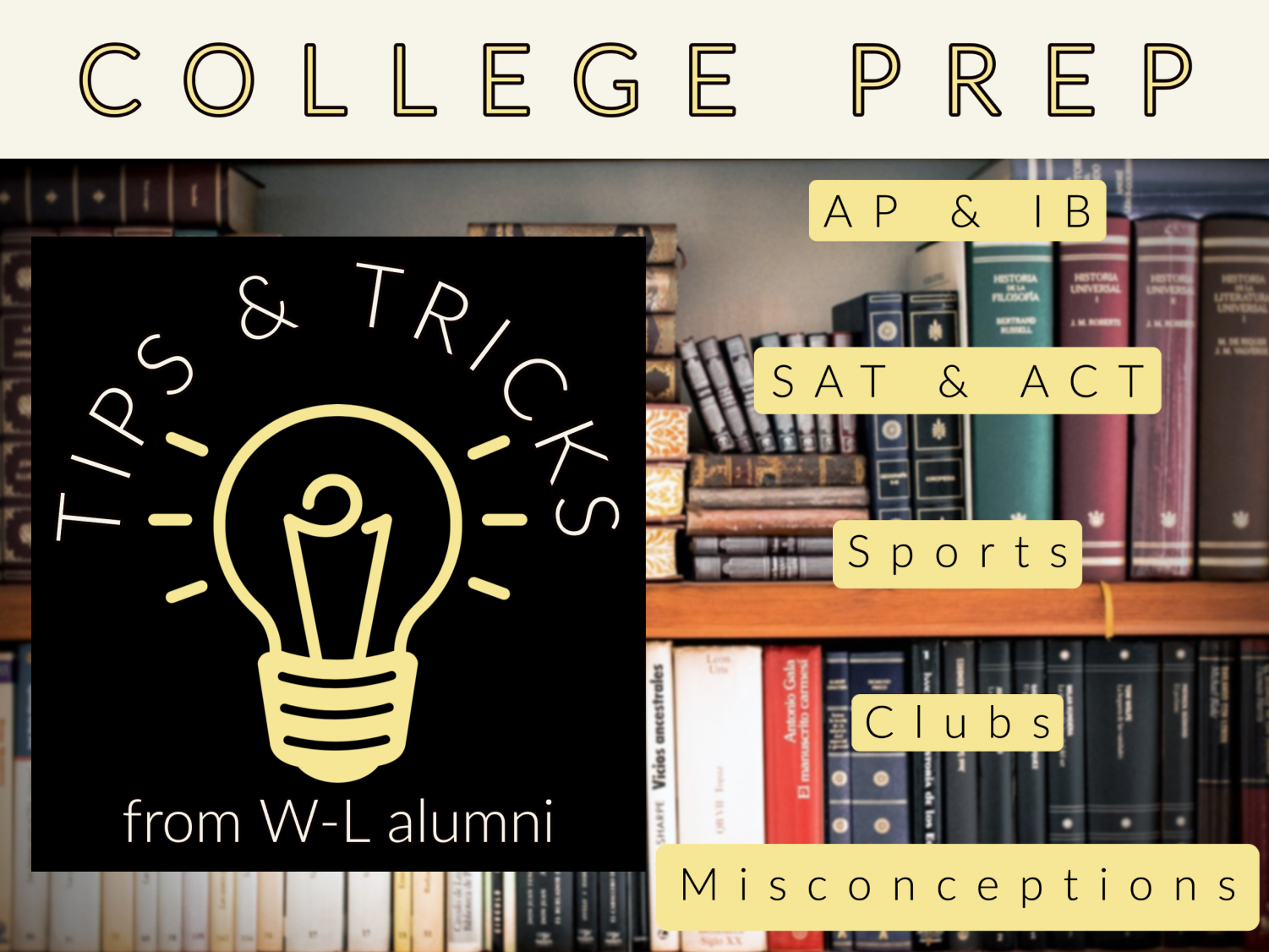 The ABCs of college preparation: Insights from W-L alumni