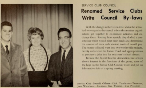 Winston is shown the 1964 W-L yearbook.