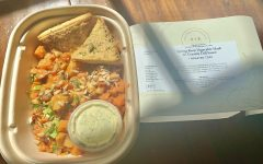 One of the many meals Vegetable and Butcher offers, a spring root vegetable hash with creamy dill sauce. They include all ingredients on the label so you know exactly what you're consuming.